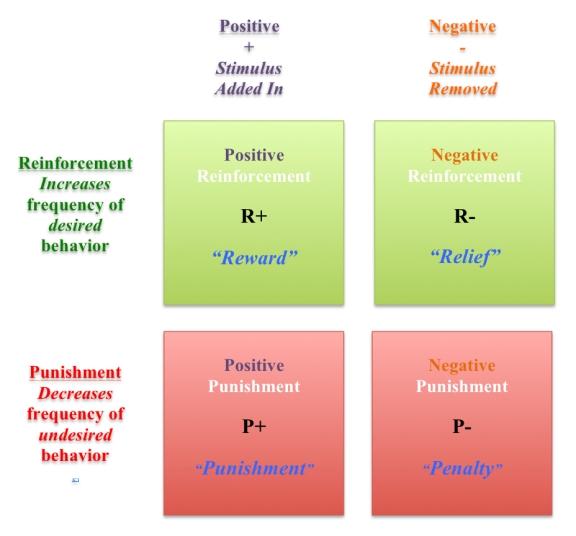 Positive Reinforcement Matrix for blog jpg