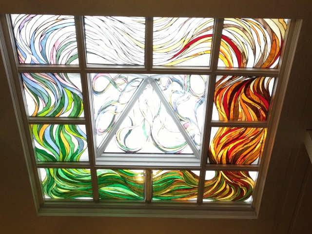 The beautiful skylight above the worship room: I can imagine spirits passing through in either direction.