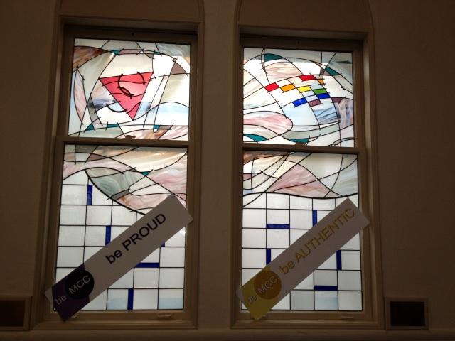 Artful windows communicate deep messages.
