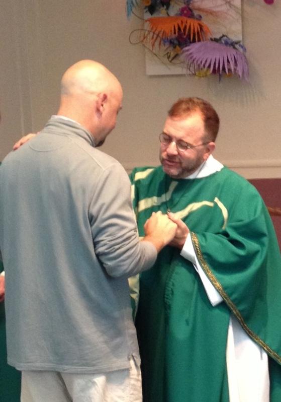 Each congregant gets an individual prayer after communion.