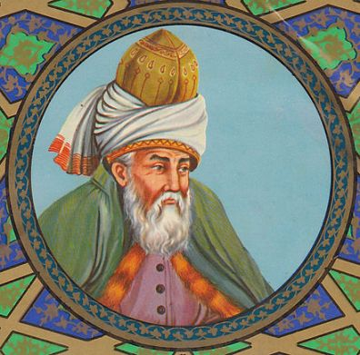 The still-best-selling poet Jalal ad-Din Muhammad Rumi. Image courtesy of Wikimedia Commons.